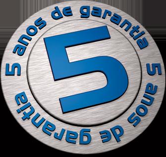 5 anos de garantia