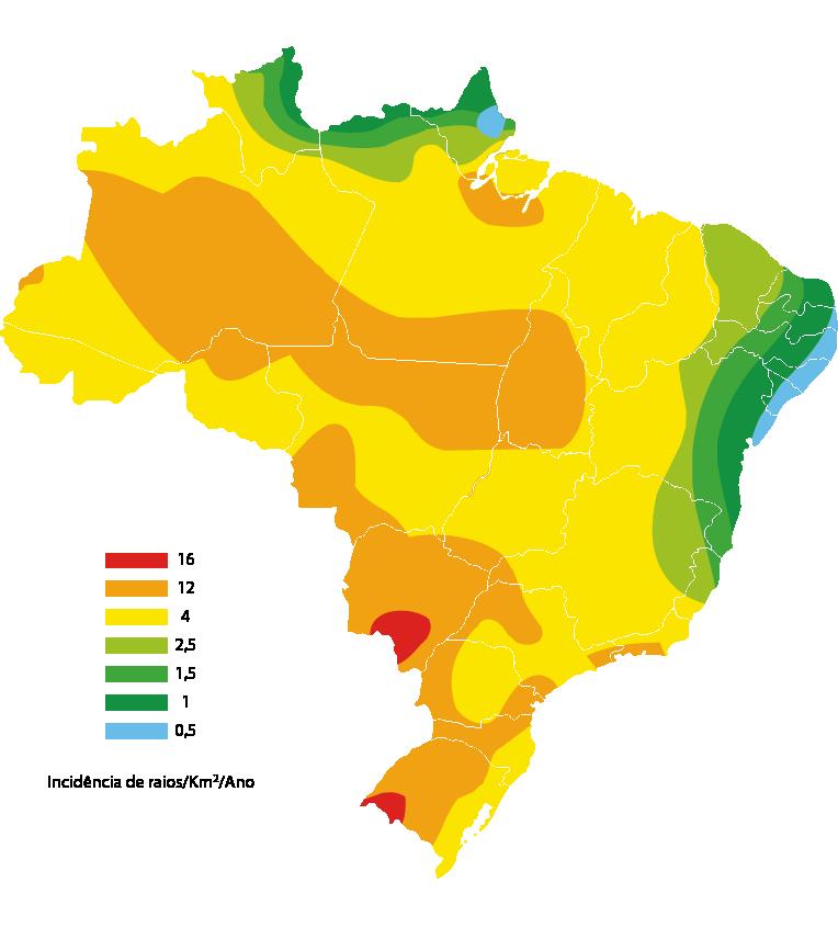 mapa raios
