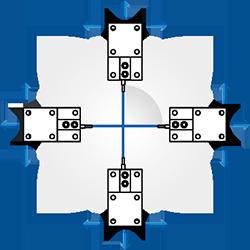 Módulo de pesagem compressão - Tanque com 4 módulos de pesagem (90º)