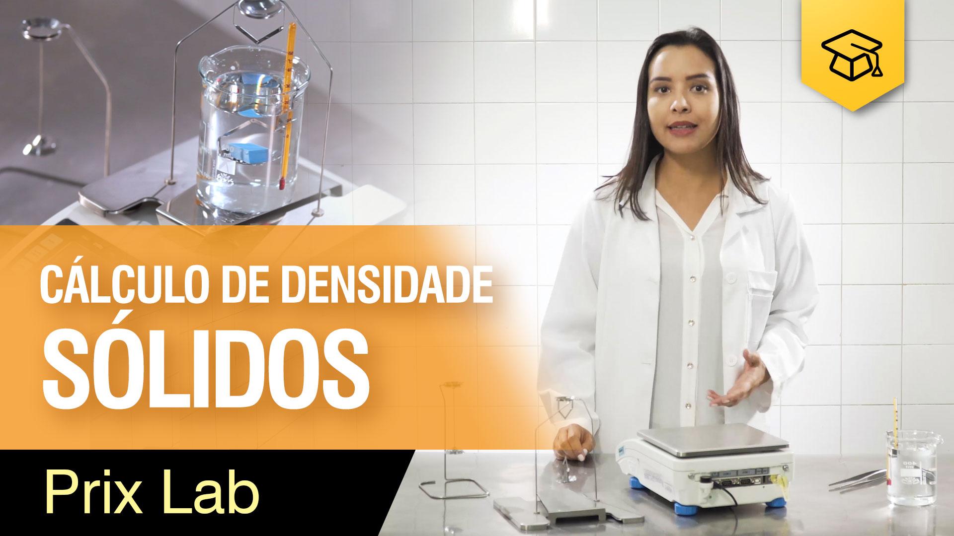 Cálculo de densidade de sólidos - Prix Lab
